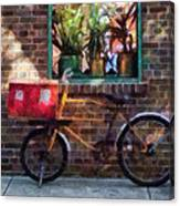 Delivery Bicycle Greenwich Village Canvas Print