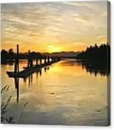 Delta Sunset Canvas Print