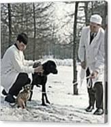 Demikhov's Laboratory Dogs, 1967 Canvas Print