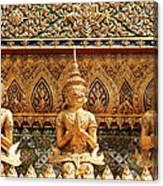 Demon Guardian Statues At Wat Phra Kaew Canvas Print