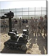 Demonstration Of A Bomb Disposal Robot Canvas Print