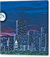 Denver Moon Canvas Print
