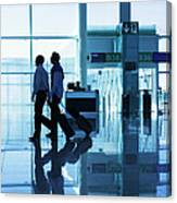 Departure Gate At The Airport Canvas Print