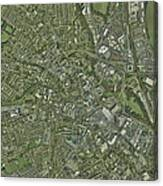 Derby, Uk, Aerial Image Canvas Print