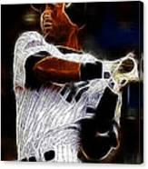 Derek Jeter New York Yankee Canvas Print