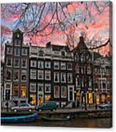 Desafinado-prinsengracht. Amsterdam Canvas Print
