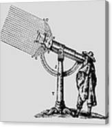 Descartes' 'giant' Microscope, 1637. Canvas Print