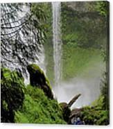 Descent To The Falls Canvas Print
