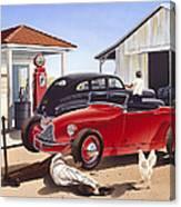 Desert Gas Station Canvas Print