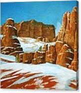 Desert Snow Canvas Print