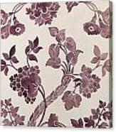 Design For A Silk Damask Canvas Print