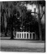 Destrehan Plantation In Black And White Canvas Print