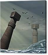 Destruction Of Atlantis Canvas Print