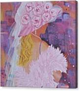 Pink Hat Beauty Canvas Print