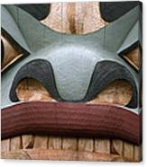 Detail Of A Totem Pole Canvas Print