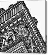 Details Of The Ellicott Buildings Roof Canvas Print