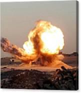 Detonation Of A Weapons Cache Canvas Print