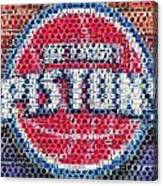 Detroit Pistons Mosaic Canvas Print