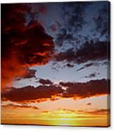 Developing Storm At Sunset Canvas Print