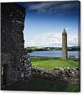 Devenish Monastic Site, Lough Erne, Co Canvas Print