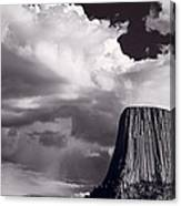 Devils Tower Wyoming Bw Canvas Print