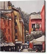 Dia De Compras Na Riviera Canvas Print