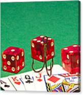 Dice Red Cards Hook 1 B Canvas Print