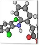 Diclofenac Drug Molecule Canvas Print