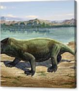 Dicynodon Trautscholdi, A Prehistoric Canvas Print