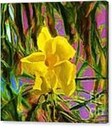 Digital Painting Of Yellow Orchid Canvas Print