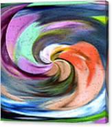 Digital Swirl Of Color 2001 Canvas Print