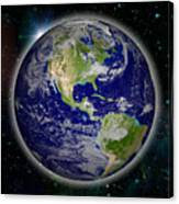 Digitally Generated Image Of Planet Earth Canvas Print