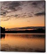 Diminishing Clouds And Rising Sun Canvas Print