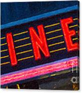 Diner Sign In Neon Canvas Print