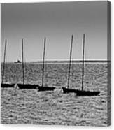 Dinghies Moored Off Of Leigh On Sea Essex Canvas Print