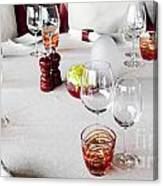 Dining Table. Canvas Print