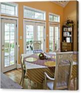 Dining Table In Kitchen Canvas Print