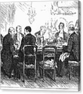 Dinner Party, 1880 Canvas Print