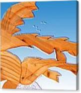Dinosaur Fish With Bubbles Canvas Print