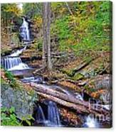 Distant Ozone Falls And Rapids In Autumn Canvas Print