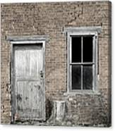 Distressed Facade Canvas Print