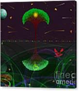 Divya Loka And Bhuloka  Canvas Print