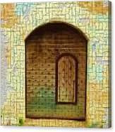 Do-00489 Old Door Within A Door-crackles Canvas Print