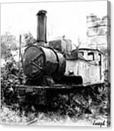 Do-00508 Mar Mikhael Train Bw Canvas Print