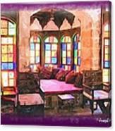Do-00520 Emir Bachir Palace Interior-violet Bkgd Canvas Print
