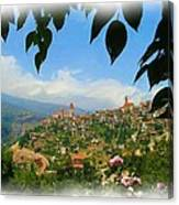 Do-00547 Town Of Bcharre Canvas Print
