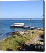 Dock At Point Reyes Calfornia . 7d16069 Canvas Print