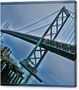 Dock By The San Francisco Bay Bridge Canvas Print