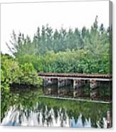 Dock On The North Fork River Canvas Print
