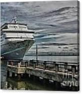Docked Cruise Ship Three Canvas Print